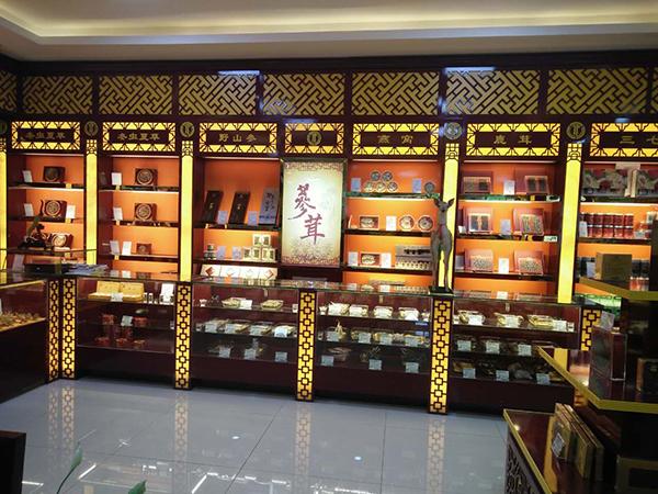 重庆燕窝展柜设计